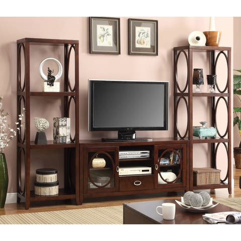 Melvilon Casual 56-inch Cherry 3-Piece TV Entertainment Set by FOA