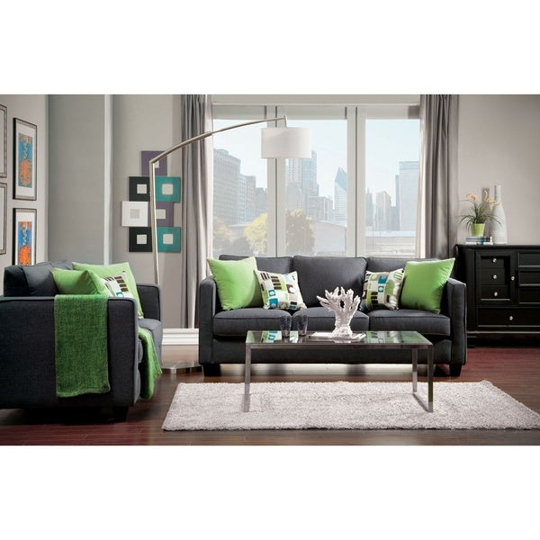 Furniture of America Ivy 2-piece Transitional Sofa and Loveseat Set