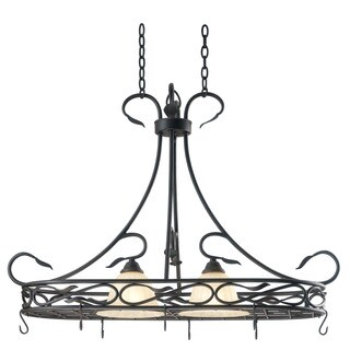 Abilene 2-light Bronze Pot Rack