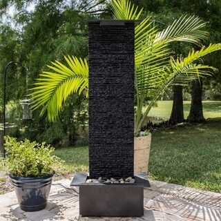 Quarry Floor Waterfall Fountain - Natural Slate Stone