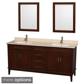 Wyndham Collection 'Hatton' 72-inch Dark Chestnut Double Sink Vanity