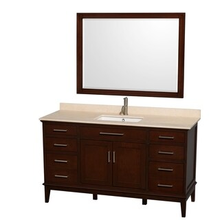 Wyndham Collection Hatton Dark Chestnut 60-inch Single-sink Bathroom Vanity