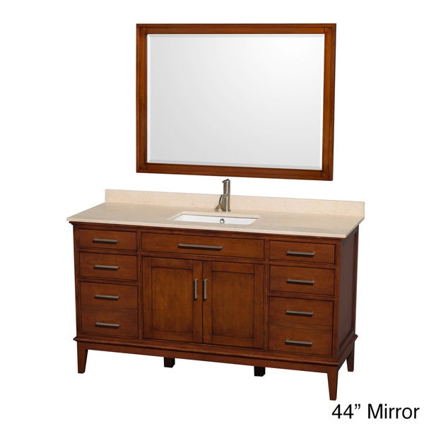 Shop Wyndham Collection Hatton Light Chestnut 60 Inch Single Sink Bathroom Vanity Free