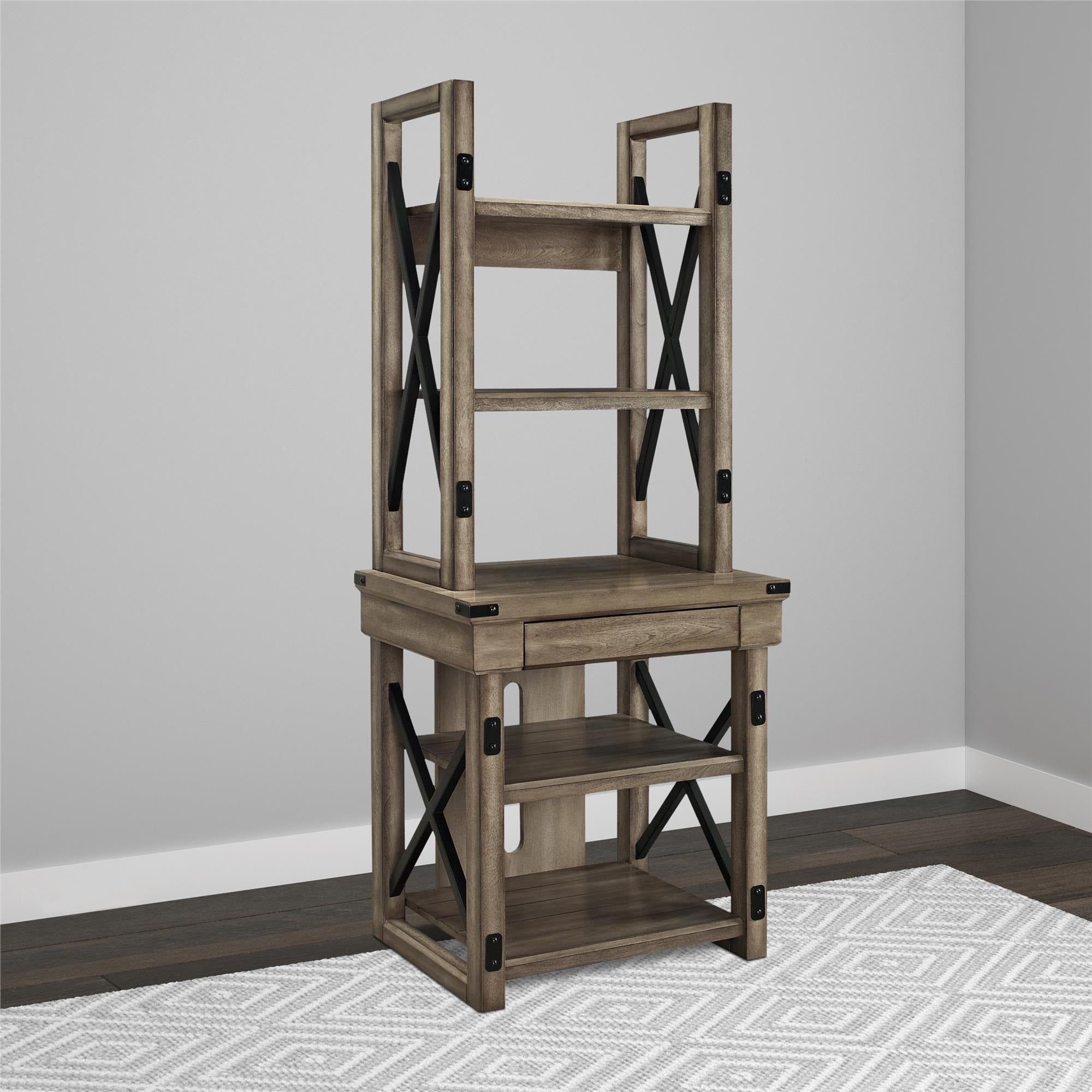 Shop Avenue Greene Woodgate Wood Veneer Audio Stand Bookshelf