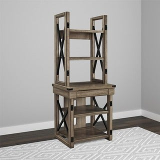 Altra Wildwood Rustic Audio Pier Metal Frame Bookcase