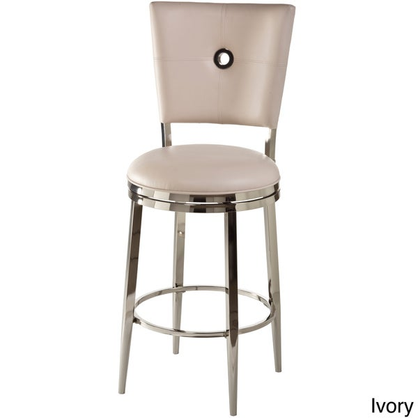 Montbrook Faux Leather Keyhole Back Swivel Stool Free
