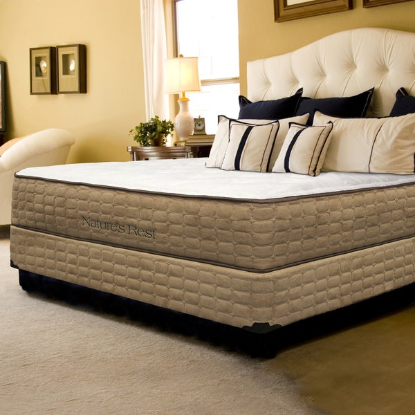 Shop Natures Rest Unity Luxury Plush Queen Size Latex Mattress Set Free Shipping Today