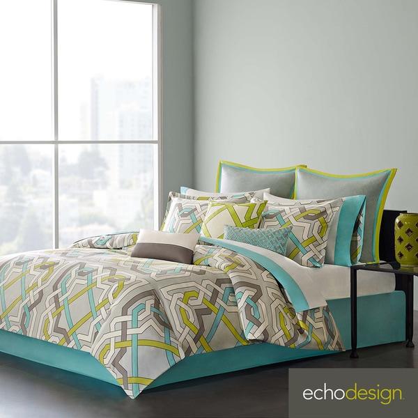 Echo Design Status Cotton 3-piece Comforter Set with Euro Sham Sold Separate
