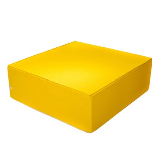 Softblock 44-inch Square Sunshine Yellow Outdoor Ottoman