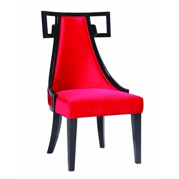 Shop Skyline Red Velvet Side Chair Free Shipping Today