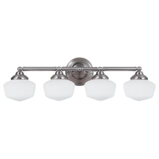 Academy 4-light Fluorescent Brushed Nickel Wall/ Bath Vanity Fixture