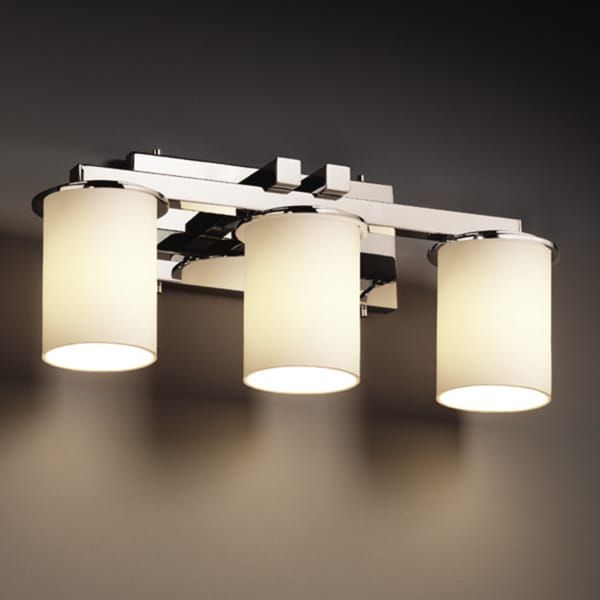 justice design group bathroom lighting shop justice design fusion dakota 3 light polished 23570