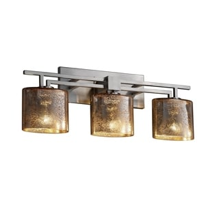 Justice Design Group Fusion Aero 3-light Mercury Glass Bath Bar
