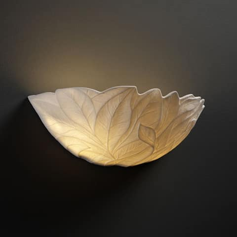 Copper Grove Willemstad 1-light Wall Sconce with Leaf Shade