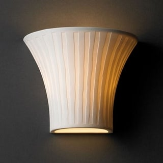 Justice Design Group Limoges 1-light Wall Sconce, Waterfall Shade