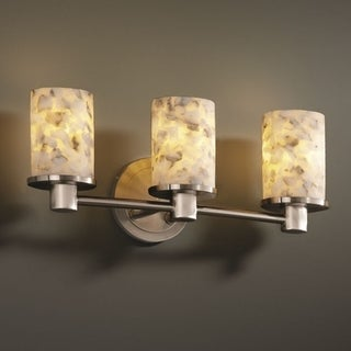 Justice Design Group Alabaster Rocks! Rondo 3-light Bath Bar