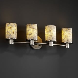Justice Design Group Alabaster Rocks! Rondo 4-light Bath Bar
