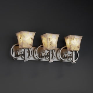 Justice Design Group Alabaster Rocks! Heritage 3-light Bath Bar