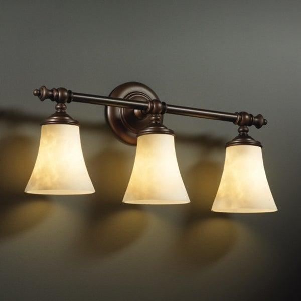 Justice Design Group Clouds Tradition 3-light Dark Bronze Bath Bar ...
