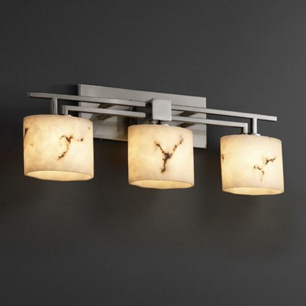 Justice Bathroom Lighting: Justice Design Group LumenAria Aero 3-light Bath Bar