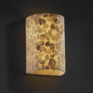 Justice Design Group Alabaster Rocks! 2-light Small Wall Sconce