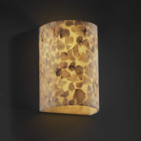 Justice Design Alabaster Rocks 2-light (No Metal) Large Wall Sconce
