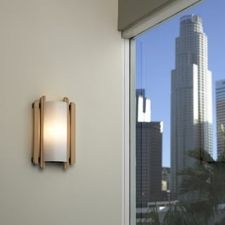 Justice Design Group Trommel Beach Wood 1-light ADA Wall Sconce