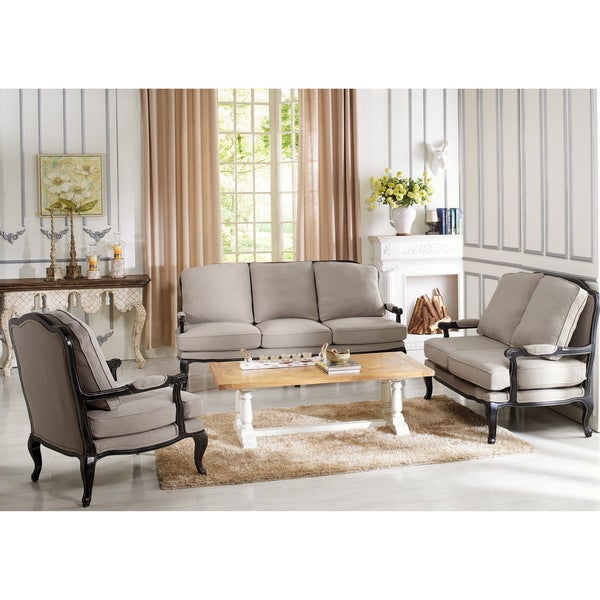 Baxton Studio Antoinette Clic Antiqued French Sofa Set