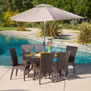 Brooke Rectangular Outdoor Cast and Wicker 7-piece Set by Christopher Knight Home|https://ak1.ostkcdn.com/images/products/8896167/P16116797.jpg?impolicy=medium