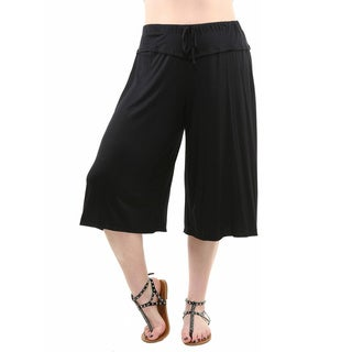 24/7 Comfort Apparel Women's Plus Size Knee-length Gaucho Pants (3 options available)
