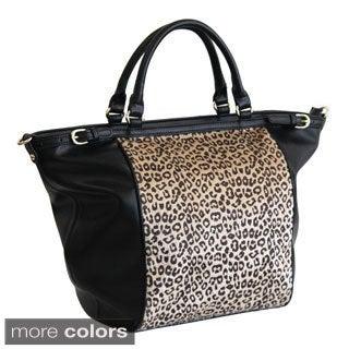Adrienne Landau Cheetah Print Zip-top Tote