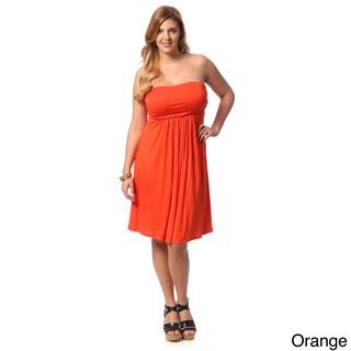 24/7 Comfort Apparel Women's Plus Size Sleeveless Tube Dress (Option: Orange - 3X)