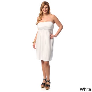 24/7 Comfort Apparel Women's Plus Size Sleeveless Tube Dress