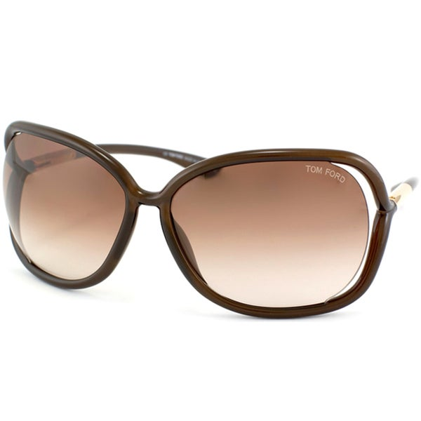 Sunglasses Tom Ford  tom ford women s tf 76 raquel 692 brown oversize sunglasses