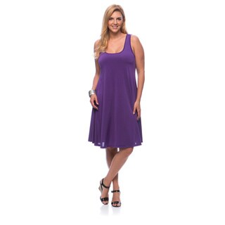 24/7 Comfort Apparel Women's Plus Size Knee-length Tank Dress