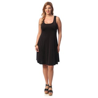 24/7 Comfort Apparel Women's Plus Size Knee-length Tank Dress