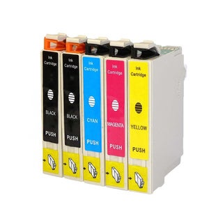 Replacement Epson 60 T060 T060120 T060220 T060320 T060420 Compatible Ink Cartridge (Pack Of 5 :2K/1C/1M/1Y)