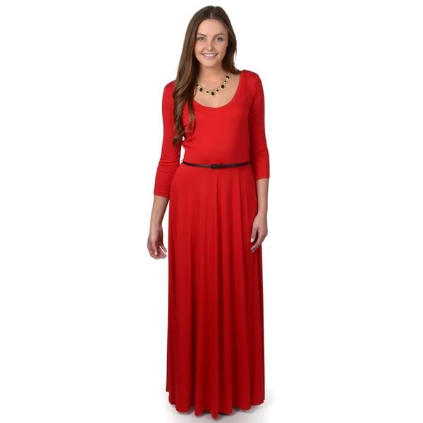 Calvin Klein Women's Half-sleeve Belted Sheath Dress
