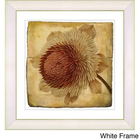 Zhee Singer 'Vintage Botanical No 20c - Antiqued' Framed Fine Art Print