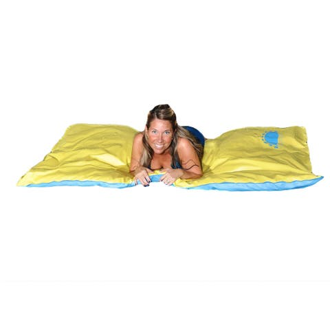 Santa Maria Unsinkable Blue/Yellow Floating Pool Mattress - Multi - 70-in x 40-in