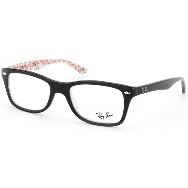 Eyeglass Frame Latest : Ray-Ban RX 5228 5014 Black Logo Print Eyeglass Frames ...