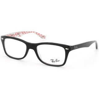 knock off ray ban eyeglass frames  ray ban 'rx 5228 5014' black logo print eyeglass frames