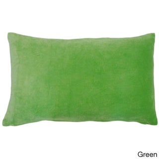 Jiti Solid Color Velvet 12 x 20-inch Accent Pillow
