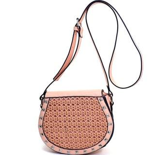 Pyramid Studded Messenger Bag