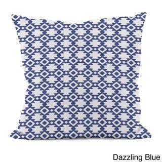 18 x 18-inch Purple Geometric Decorative Throw Pillow