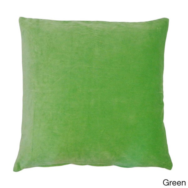 Jiti Solid Color Velvet 20 x 20-inch Accent Pillow