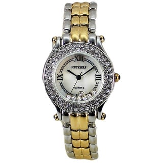 Vecceli Women's Fashion L-518-W-G Two-tone Watch