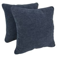 Blazing Needles 25-inch Rope-corded Solid Chenille Floor Pillows (Set of 2)
