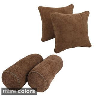 Solid Chenille Rope Corded Throw Pillows (Set of 4)