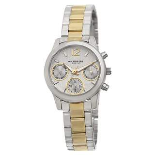 Akribos XXIV Women's Swiss Quartz Multifunction Two-Tone Bracelet Watch